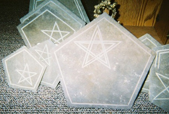hand crafted altar stones